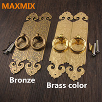 10cm 12cm 15cm 18cm Antique Chinese Pure Copper Straight Handle Door Hardware Furniture Classical Cabinet Drawer