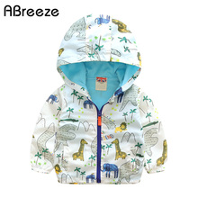 Abreeze 2017 New children s hoodies classic animal style summer autumn kids jackets for boys casual