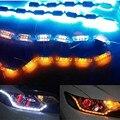 2 шт. LED горячие продажи газа гибкие светодиодные Водонепроницаемые Дневные Ходовые Огни DRL Указатель Поворота лампы