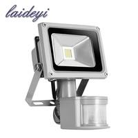 2PCS sensor COB flood light 85 265V searchlight with motion sensor PIR flood led lamp LED street light projector led floodlight