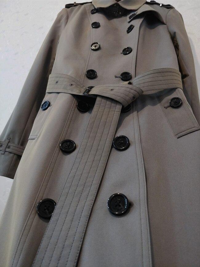 Mince Automne Femelle Designer Boutonnage Printemps Tranchée Britannique Survêtement Épaulette Mode Longueur Femmes 2018 Double Moyen Manteau ptqZYwqI