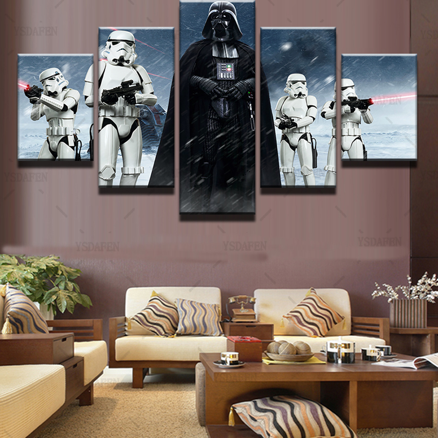 Imperial Home Decor: 5 Pieces Star Wars Black Knight Imperial Stormtrooper