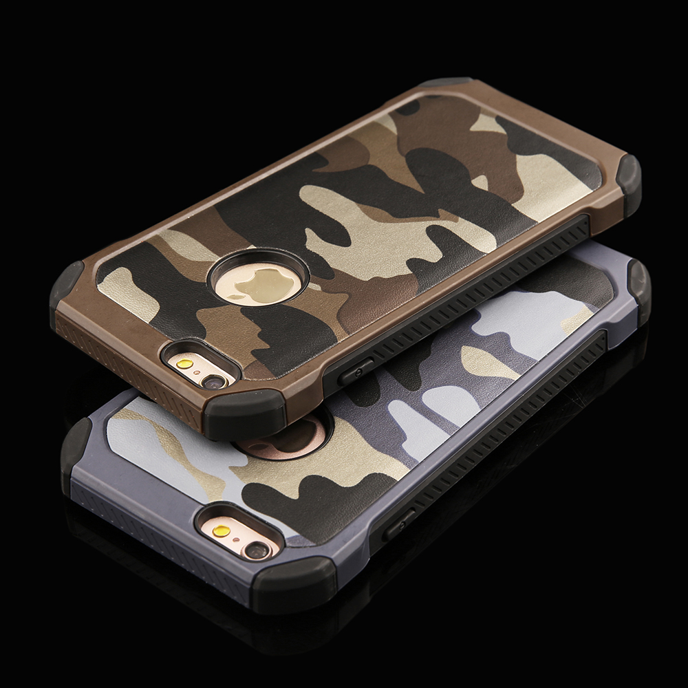 Navy Army Camouflage Pattern Cases For Iphone 5 5s Se 6 6s Plus 1 Case 2 In Hard Plastic Frame Soft Tpu Back Cover Shell