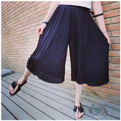cheap for sale special section classic shoes Summer Fashion Women Chiffon Loose High Waist Wide Leg Pants ...