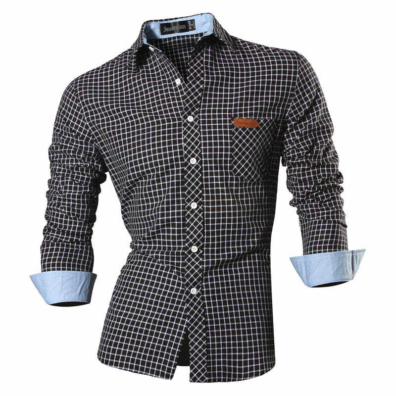 2019 Spring Autumn Features Shirts Men Casual Jeans Shirt New Arrival Long Sleeve Casual Slim Fit Male Shirts 8615