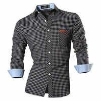 2019 di Autunno della Molla Caratteristiche Camicette Uomini casual Camicia di Jeans Nuovo Arrivo Manica Lunga casual Slim Fit Maschio Camicette 8615