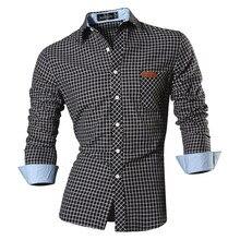 Jeansian bahar sonbahar özellikleri gömlek erkekler günlük kot gömlek yeni varış uzun kollu Casual Slim Fit erkek gömlek 8615