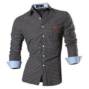 Image 1 - Jeansian primavera outono características camisas dos homens calças de brim casuais camisa nova chegada manga longa casual magro caber camisas masculinas 8615
