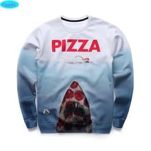 12-18years big kids brand sweatshirt boys youth fashion 3D Pizza Jaws printed hoodies girls jogger sportwear teens unisex W22