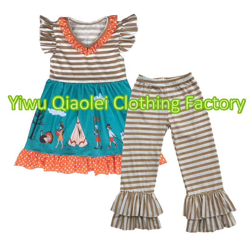 38e37f19d448 Thanksgiving kids boutique outfit wholesale children's boutique clothing  baby girl clothes