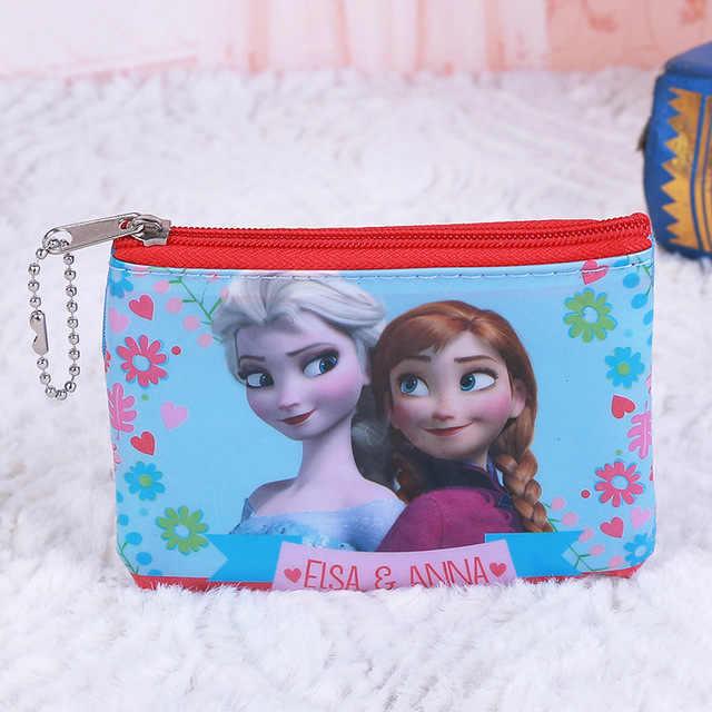 Disney Princess Frozen การ์ตูนเด็กกระเป๋าเหรียญเด็กของขวัญกระเป๋าสำหรับจัดเก็บ Elsa กระเป๋าสตางค์คลัทช์จี้