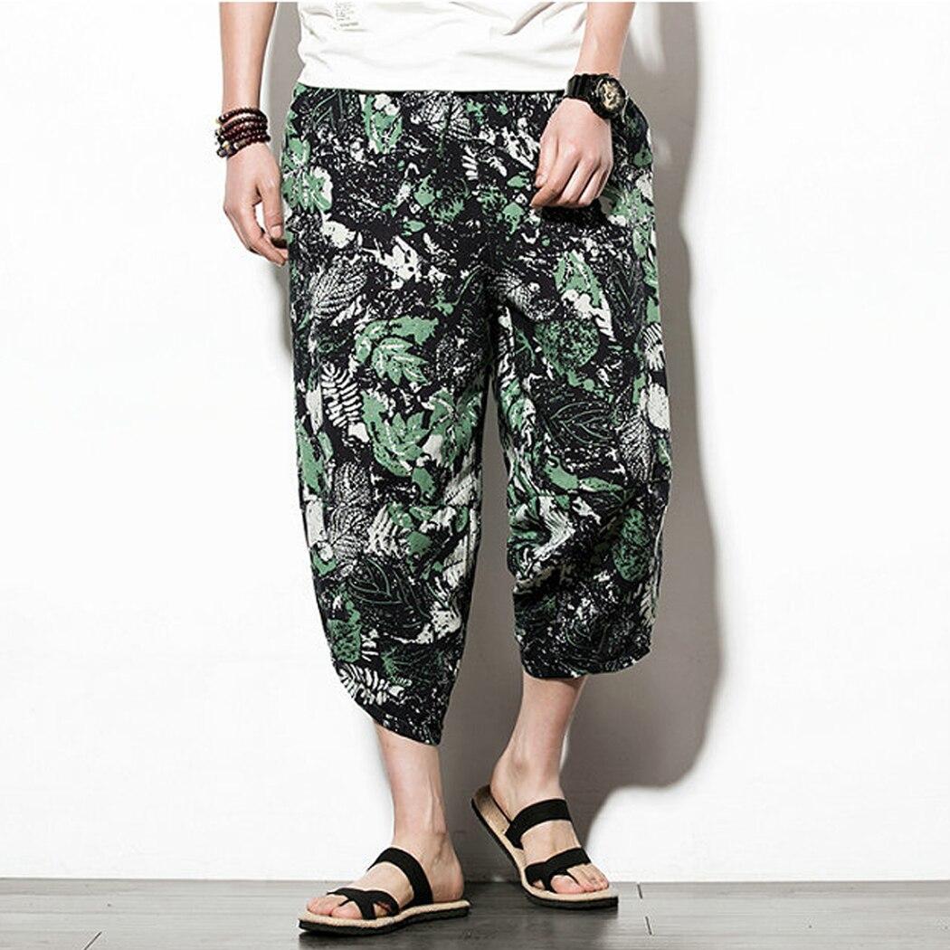 Baggy Pants Leg-Trousers Japanese-Style Cotton Linen Plus-Size Casual New Hip-Hop 5XL