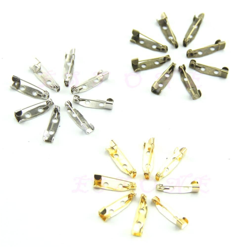 100pcs/lot 20mm DIY Safety Pins Brooch Jewelry Accessory Jul14_25 ...
