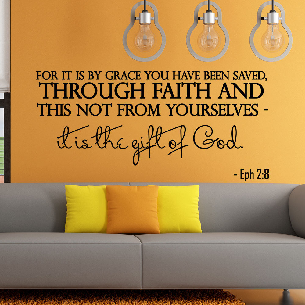 Aliexpress buy hot sale wall stickers quotes bible verse aliexpress buy hot sale wall stickers quotes bible verse psalm ephesians 28 for it is by grace vinyl removable decal diy mural wallpaper la660 from amipublicfo Gallery