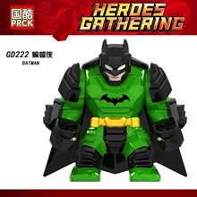 Single sale GD222 Legoing Batman Bruce Wayne Green armor DC Super hero Figures Models DIY Blocks brick Kids Toys Gifts Legoings(China)