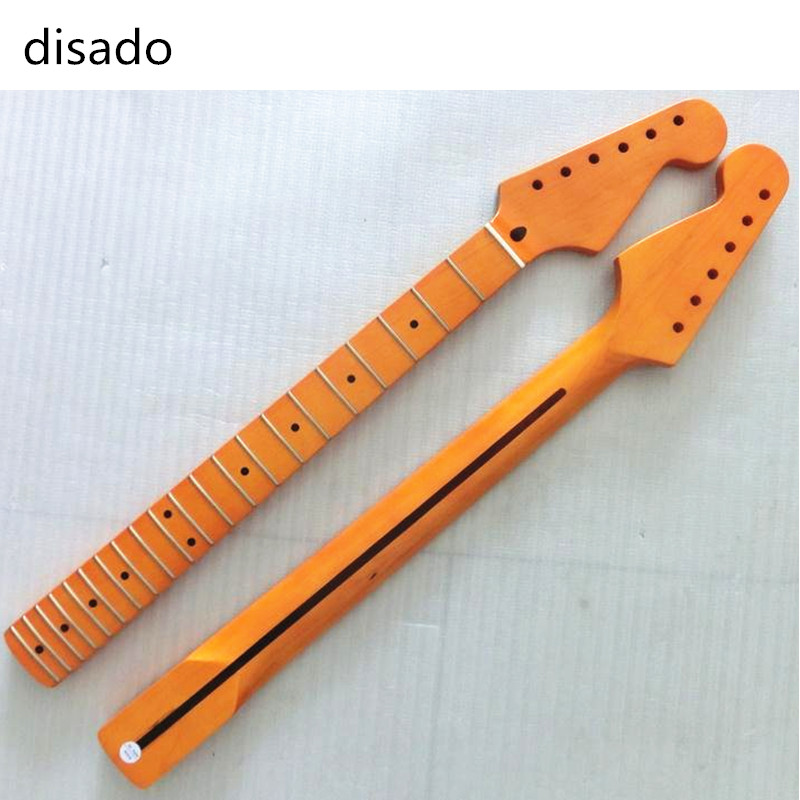 disado 21 Frets inlay dots One Piece maple Electric Guitar Neck Guitar accessories Parts Musical instruments can be customized wilkinson guitar accessories st electric guitar three single coil pickup all colors can be customized real photos free shipping