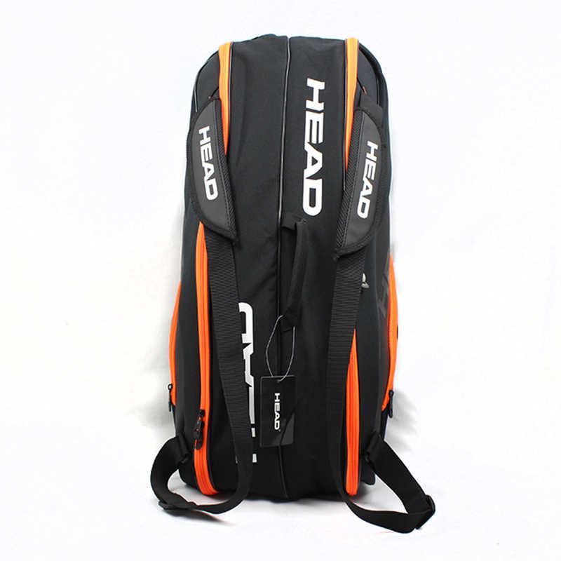 2019 новая Оригинальная головка Теннисный мешок бадминтон ракетка мешок один/двойной наплечный мешок многофункциональный мешок для 6-9 ракетки
