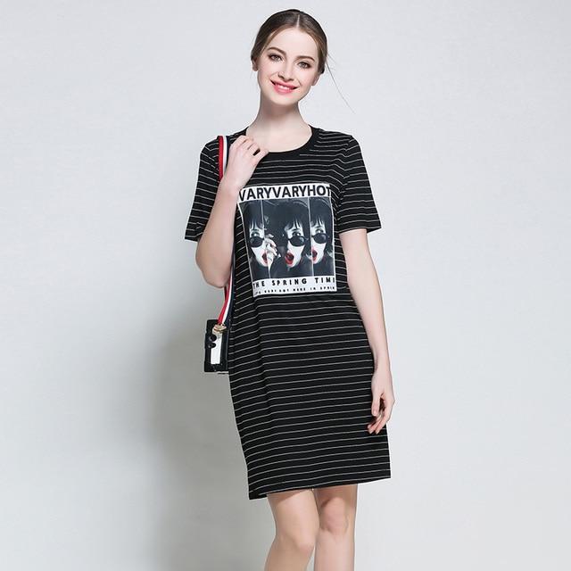 5xl Women Cotton Casual Summer Dresses Plus Size European Big