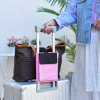 cf51f463a983 Чемодан сплошной цвет квадратный Регулируемый пылезащитный сумка для  хранения Дело Тележки Фиксатор-сумка дорожная сумка