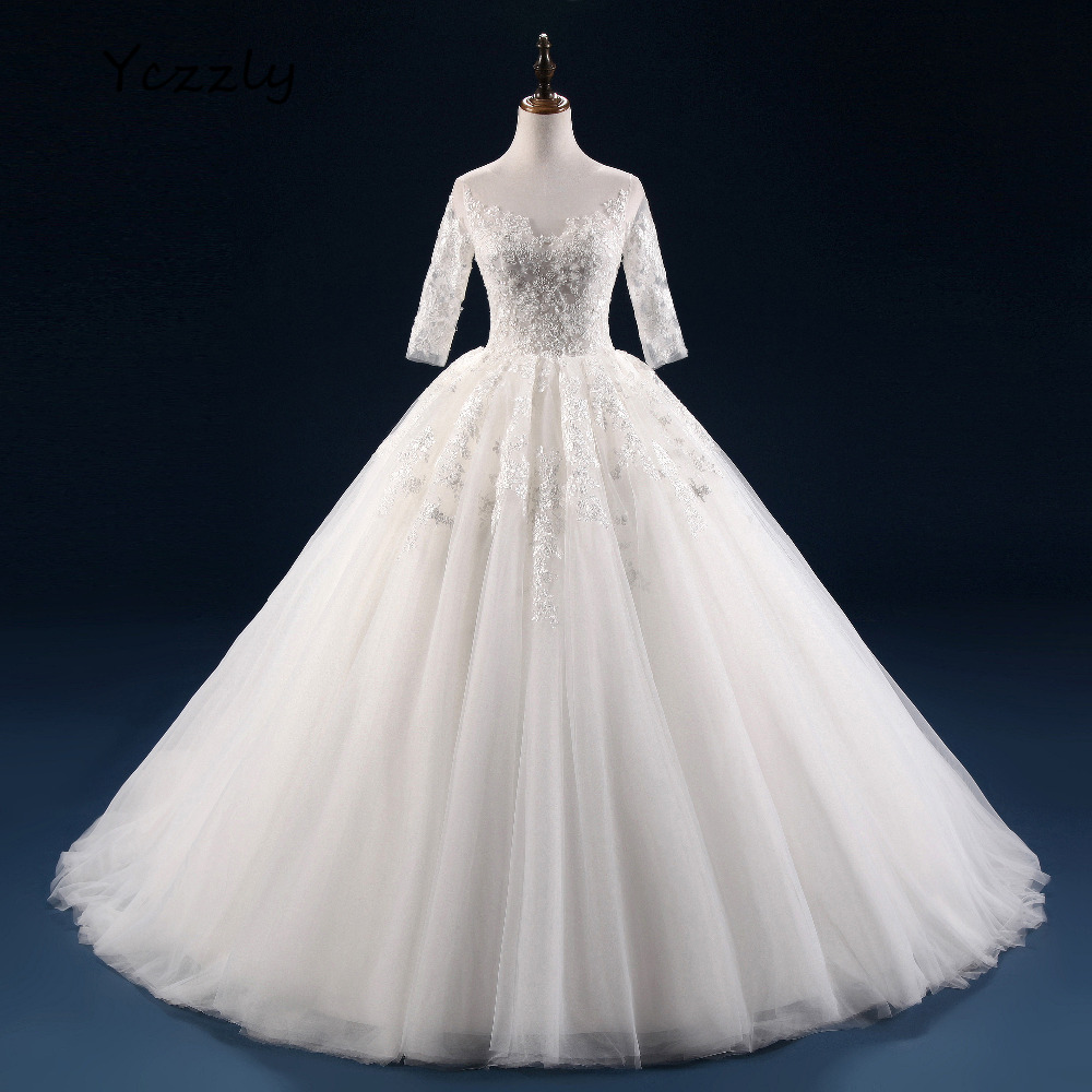 Aliexpress.com : Buy Vintage Ball Gown Wedding Dress Lace
