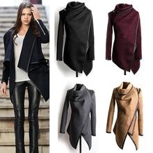 Juanbo Бесплатная доставка Vestidos свитер-пальто 2017 женские новые модные на осень-зиму шерстяные пальто Куртки 3XL