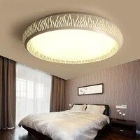 Luz do quarto moderno minimalista Luzes de teto rodada verão acolhedor e romântico luzes da sala lâmpadas de teto iluminação doméstica LU829484