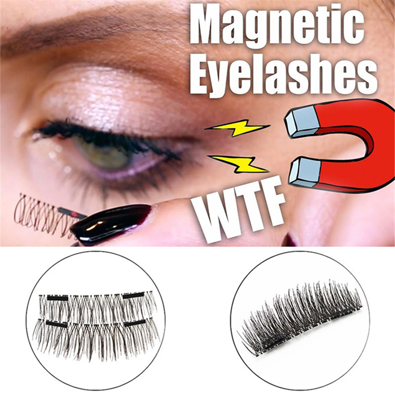3D Magnetic False Eyelashes Quality Fake Lash Eyelash Extension Fake Eye Lashes Make Up False Natural Lashes Tools Dropshipping