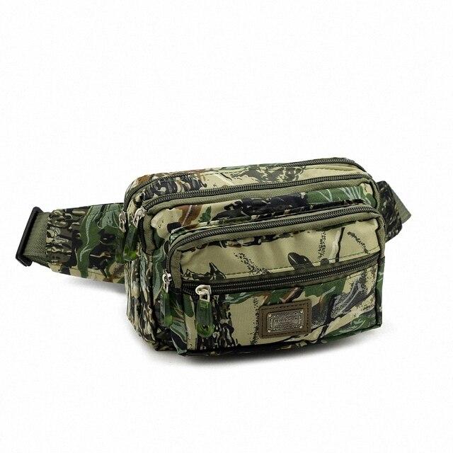 Nylon Waist Packs Man Pouch Money Belt Fashion Men Pack Durable Camouflage Color LI-1216