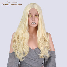 I's a wig 20 Inch Blonde Wavy Wig Long Synthetic Lace Front