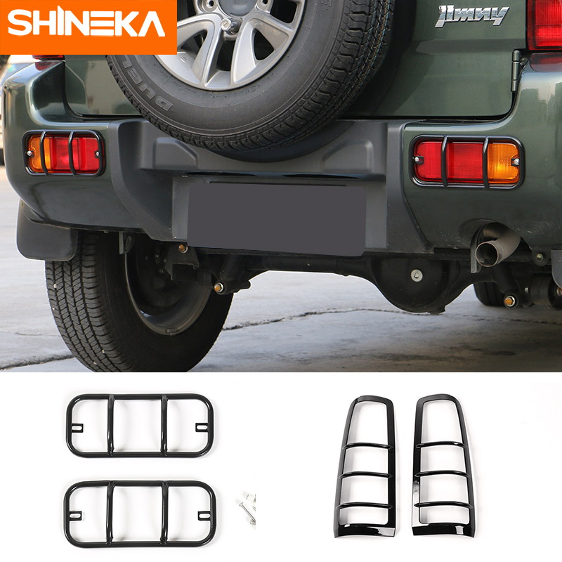 SHINEKA Metal Rear Fog Light Cover Trim Guards Protector Bumper Car Accessories Fog Lamp Car-Styling For Suzuki Jimny 2007-2015