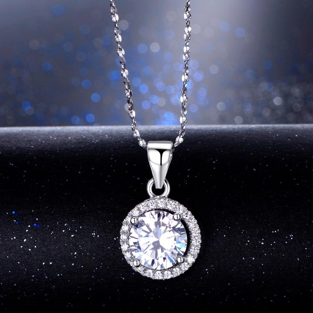 Echtes 925 Sterling Silber Luxus Kette Marke Halskette mit 2.0Ct AAAAA Ebene Zirkon Halsketten Geschenk Schmuck für frauen