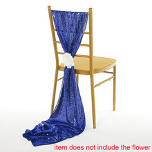 New Sequin Wedding Chair Sash 30*275cm Embroidered Dense Sequin Chair Sash For Wedding Party Chiavari Chair Decoration(China)