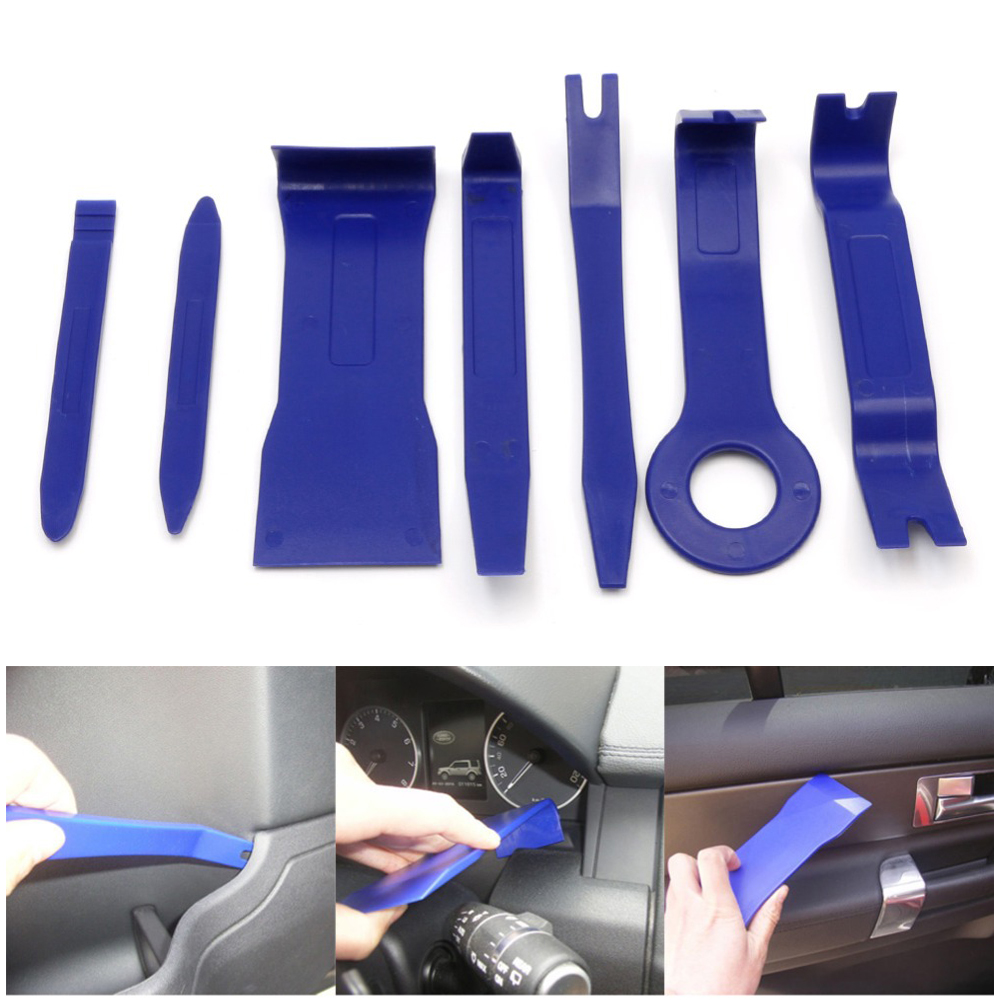 7pcs hard plastic auto car radio panel interior door clip panel trim dashboard removal. Black Bedroom Furniture Sets. Home Design Ideas