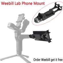 Soporte de teléfono para Zhiyun Weebill Lab Crane 3 LAB Hohem iSteady Pro Feiyu G6, Visor de cardán para teléfono inteligente, soporte de trípode de montaje