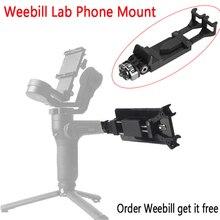 Telefon tutucu için Zhiyun Weebill laboratuvar vinç 3 Lab Hohem iSteady Pro Feiyu G6 Gimbal vizör Smartphone dağı Tripod braketi