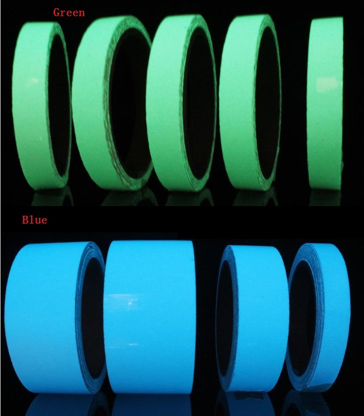 1.5cm*5M Luminous Tape Self-adhesive Glowing Night /Dark Safety Stage Striking Warning Safety Tape 45mm black and yellow self adhesive hazard warning safety tape marking safety soft pvc tape