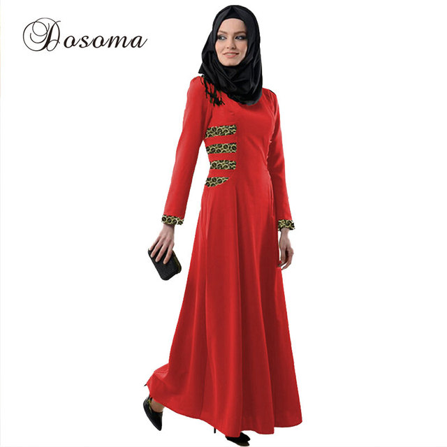 e3469ddc860 Muslim Abaya Maxi Dress Women Leopard Burka Indian Patch Linen Robe Kimono  Vestidos Kaftan Instant Hijab Arab Islamic Prayer