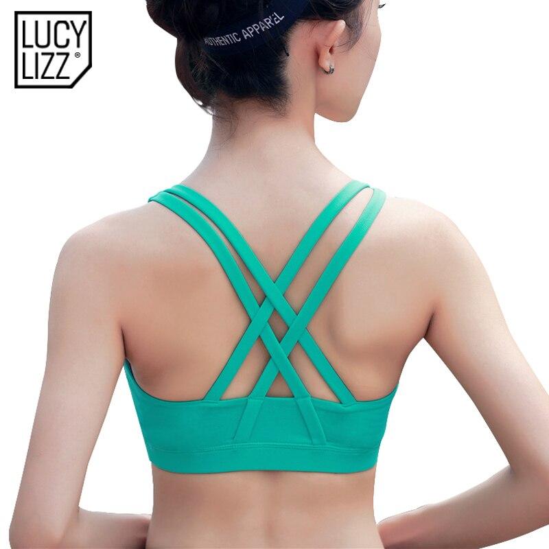 Women Gym Run Yoga Bra Sport Padded Bra Tank Workout Fitness Push Up Top Vest
