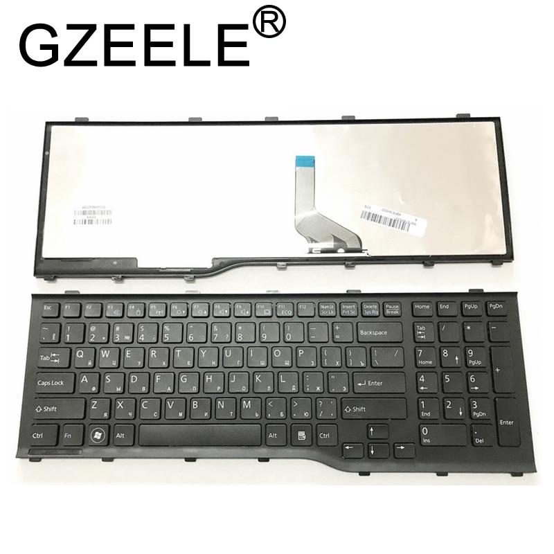 GZEELE RU Russian Keyboard For Fujitsu Lifebook AH532 A532 N532 NH532 With Frame Laptop Keyboard MP-11L63SU-D85 CP569151-01 New