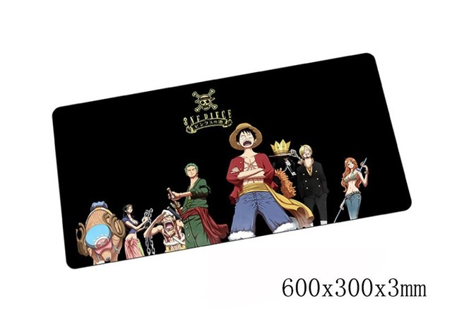 One Piece mouse pad 600x300x3mm pad to mouse notbook computer mousepad HD print gaming padmouse gamer to laptop mouse mat