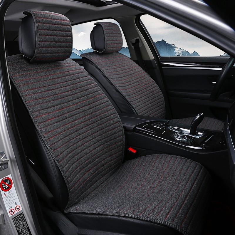 2 pièces tapis de couverture protéger le coussin de siège de voiture universel/O SHI housses de siège de voiture pour Kia etc. La plupart des véhicules à moteur intérieur, camion, Suv ou Van