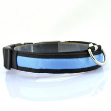 Nylon LED Light-up Puppy Leash Night Safety Collar Flashing Light Leads Luminous Pet Cat Dog Collar