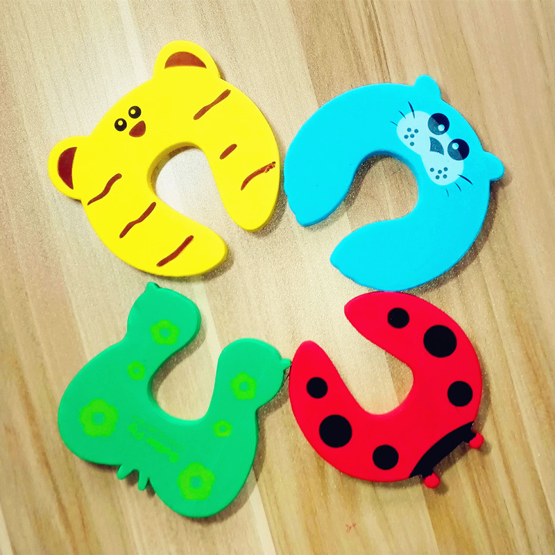 4pcs/lot Corner Protector Baby Safety Children Protection Slam Stop Cartoon Animal Jammers Stop Edge Corner Guards Door Stopper