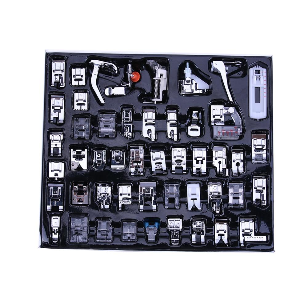48 Pcs Multi-função Ferramenta Para Cantor Irmão Janom Máquina De Costura Doméstica Trança Ponto Cego Calcador Darning Pé Pés Kits