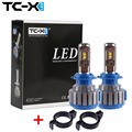 TC-X For Peugeot 508 2008 3008 Car headlights H7 LED Conversion Kits with Adapter All in One 6000k Super Bright cooling Fans