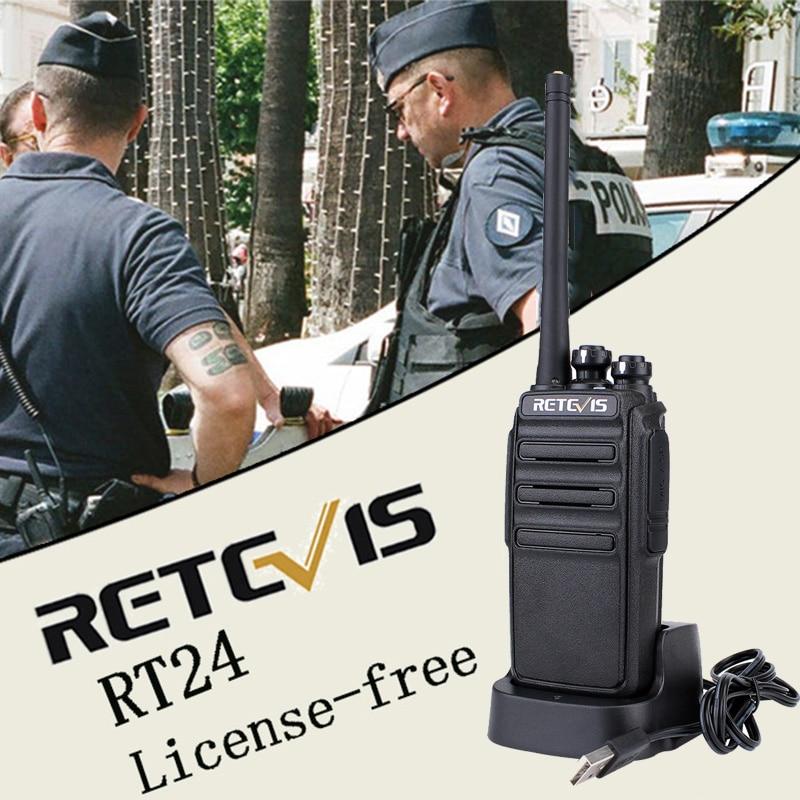SUPER DEAL) 4pcs PMR446 Radio Retevis RT24 Walkie Talkie PMR