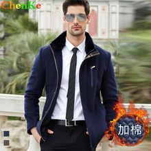 2016 Autumn Trench New Men Winter Coat Long Wool Jacket Brand Good Quality Winter Wool Blends