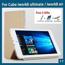 Para Cube iwork8 último Caso Del Tirón de Protección Caso de la Cubierta de LA PU Funda de piel Para Cube Iwork8 aire 8 pulgadas tablet pc
