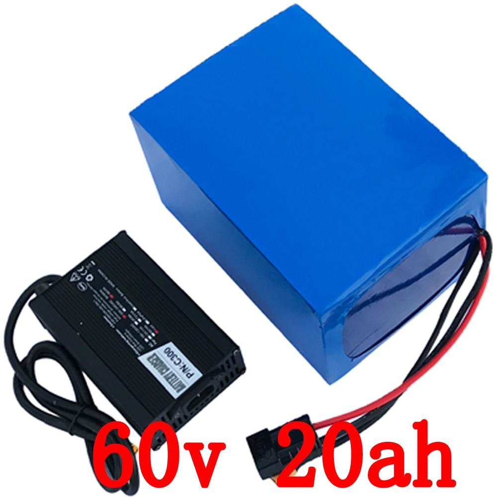 UE US AUCUN Impôt 60 v au lithium batterie 60 v 20Ah Électrique Vélo Batterie 60 v 1500 w 2500 w scooter batterie Avec 67.2 v 5A chargeur