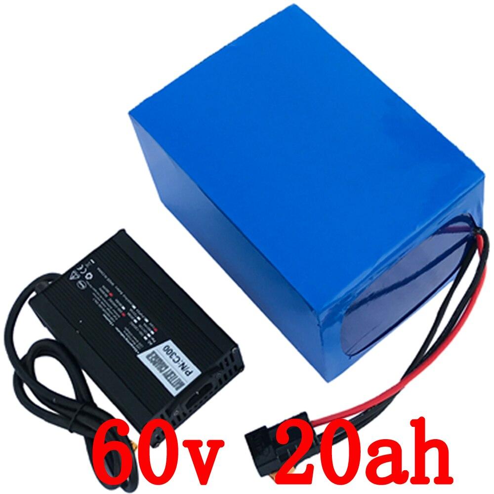 Ue US pas de taxe 60 V batterie au lithium 60 V 20Ah batterie de vélo électrique 60 V 1500 W 2500 W batterie de Scooter avec chargeur 67.2 V 5A